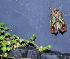 Green mottled moth at nursery
