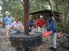 All enjoy BBQ after canoe trip